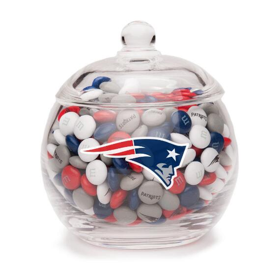 New England Patriots M & M'S Glass Bowl and Candy