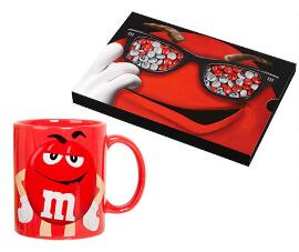 M&M's Box + Red Mug