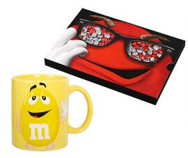 M&M's Box + Yellow Mug