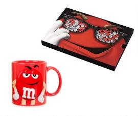M&M's Box 400 g + Red Mug