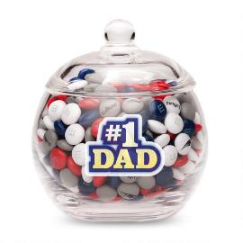 MY M&M'S® #1 Dad Glass Candy Bowl