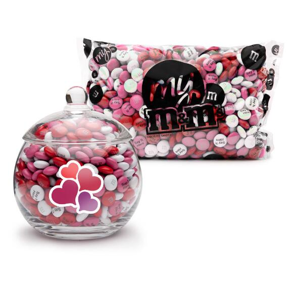MY M&M'S® Romance Glass Candy Bowl