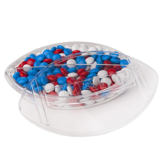 Acrylic Football Candy Dish with Lid & Personalized M&M'S®
