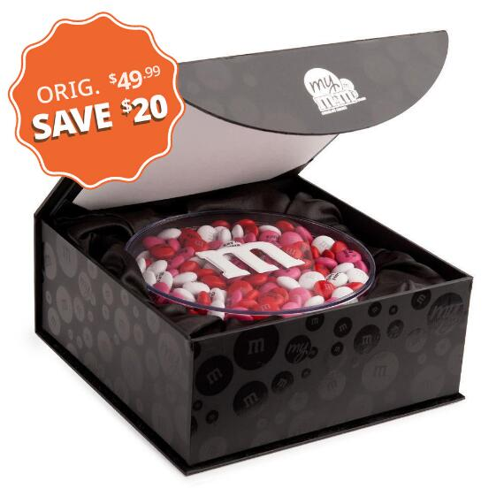 Personalized M&M'S® Candy Acrylic in Black Gift Box