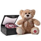 MY M&M'S® Acrylic in Gift Box & Brown Bear
