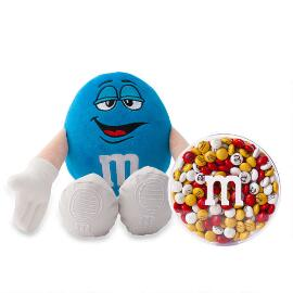 M&M'S® Blue Plush and 8oz acrylic dish