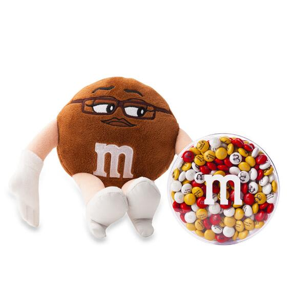 M&M'S® Miss Brown Plush and 8oz acrylic dish