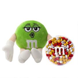 M&M'S® Miss Green Plush and 16oz acrylic dish