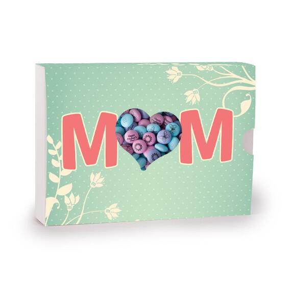 Mom's Aqua Personalized Candy Gift Box