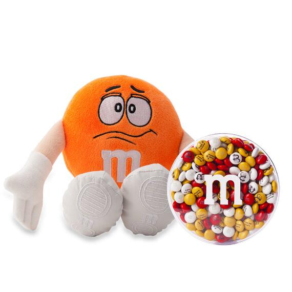 M&M'S® Orange Plush and 16oz acrylic dish
