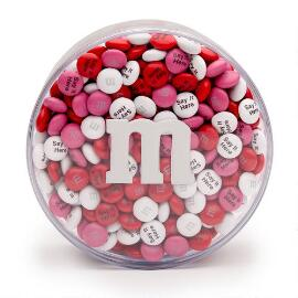 Personalized M&M'S® Round Acrylic Gift Box (1-lb)