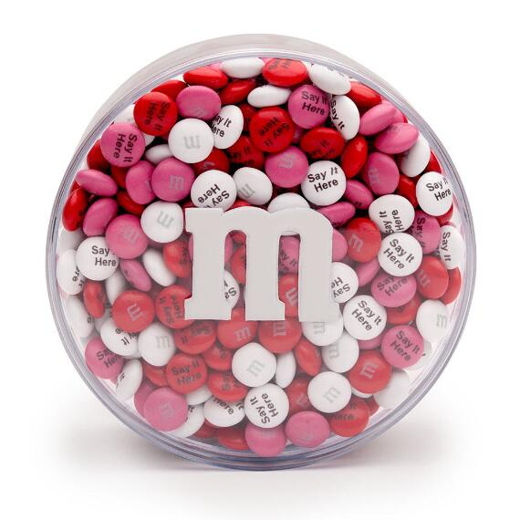 Personalized M&M'S® Round Acrylic (1-lb)
