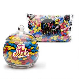 MY M&M'S® #1 Mom Glass Candy Bowl