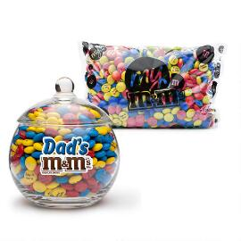 MY M&M'S® Dad's M&M'S® Glass Candy Bowl