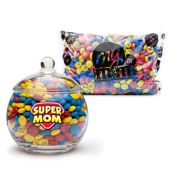 MY M&M'S® Super Mom Glass Candy Bowl