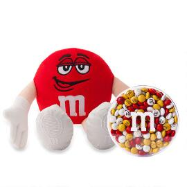 M&M'S® Red Plush and 8oz acrylic dish