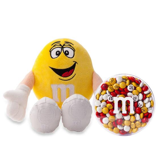 M&M'S® Yellow Plush and 16oz acrylic dish