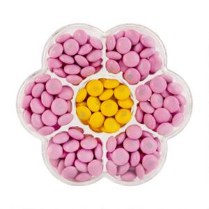 Flower Candy Box with Pink & Yellow M&M'S