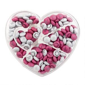 Heart Shaped Candy Box with Personalized M&M'S