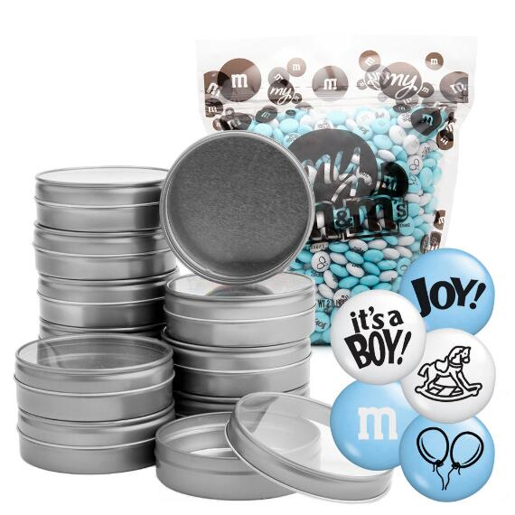 Occasion DIY Silver Tin Kit (24) - Baby Boy Blend