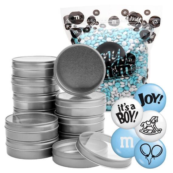 Occasion DIY Silver Tin Kit (48) - Baby Boy Blend