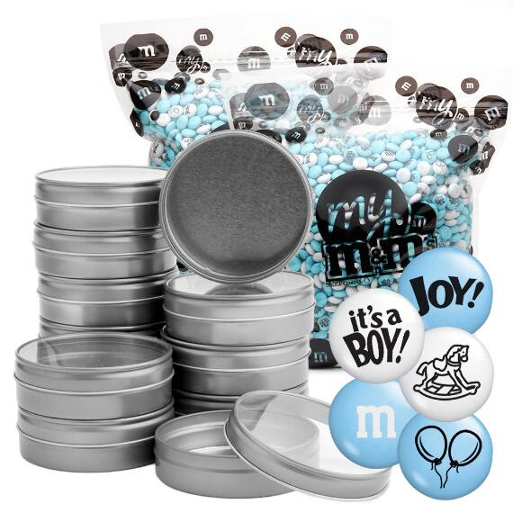 Occasion DIY Silver Tin Kit (96) - Baby Boy Blend
