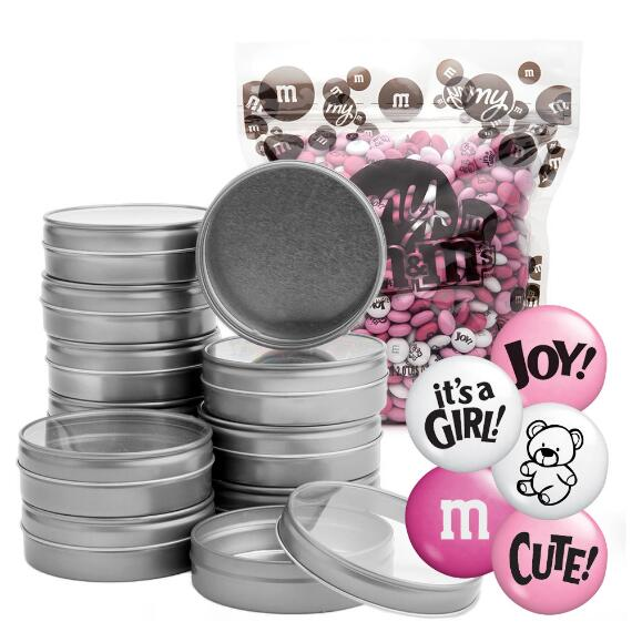 Occasion DIY Silver Tin Kit (24) - Baby Girl Blend