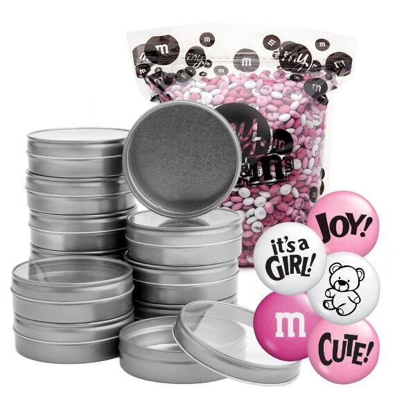 Occasion DIY Silver Tin Kit (48) - Baby Girl Blend