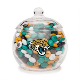 NFL Glass Candy Bowl - Jacksonville Jaguars