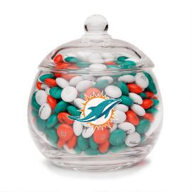 NFL Glass Candy Bowl - Miami Dolphins