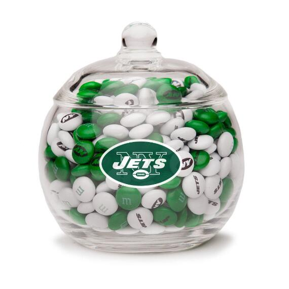 NFL Glass Candy Bowl - New York Jets