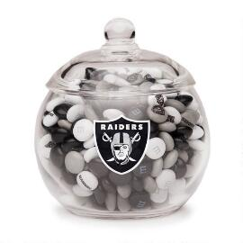 NFL Glass Candy Bowl - Oakland Raiders