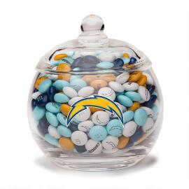 NFL Glass Candy Bowl - San Diego Chargers
