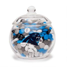NFL Glass Candy Bowl - Carolina Panthers