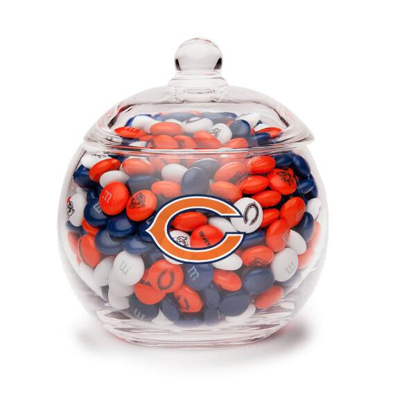 NFL Glass Candy Bowl - Chicago Bears