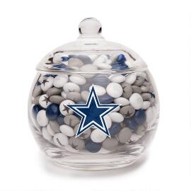 NFL Glass Candy Bowl - Dallas Cowboys