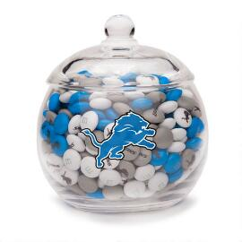 NFL Glass Candy Bowl - Detroit Lions