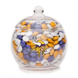 NFL Glass Candy Bowl - Minnesota Vikings