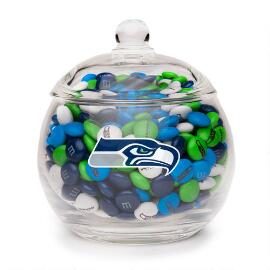 NFL Glass Candy Bowl - Seattle Seahawks