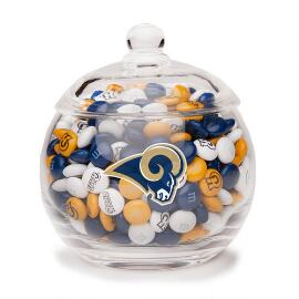 NFL Glass Candy Bowl - Los Angeles Rams