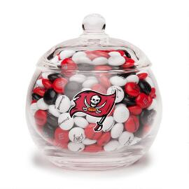 NFL Glass Candy Bowl - Tampa Bay Buccaneers