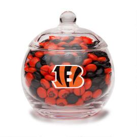 NFL Glass Candy Bowl - Cincinnati Bengals