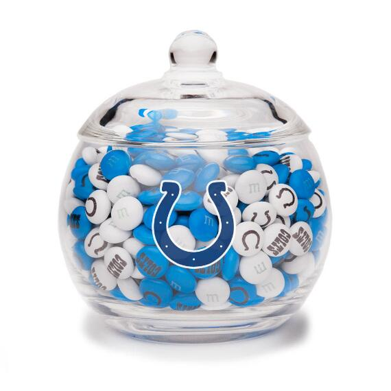NFL Glass Candy Bowl - Indianapolis Colts