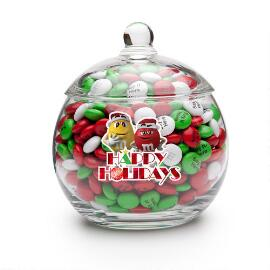 MY M&M'S® Christmas Character Glass Bowl