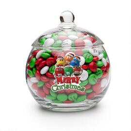 MY M&M'S® Holiday Character Glass Bowl