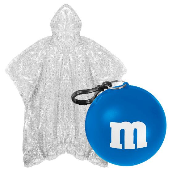 M&M'S® Logo Print Poncho In Blue Ball