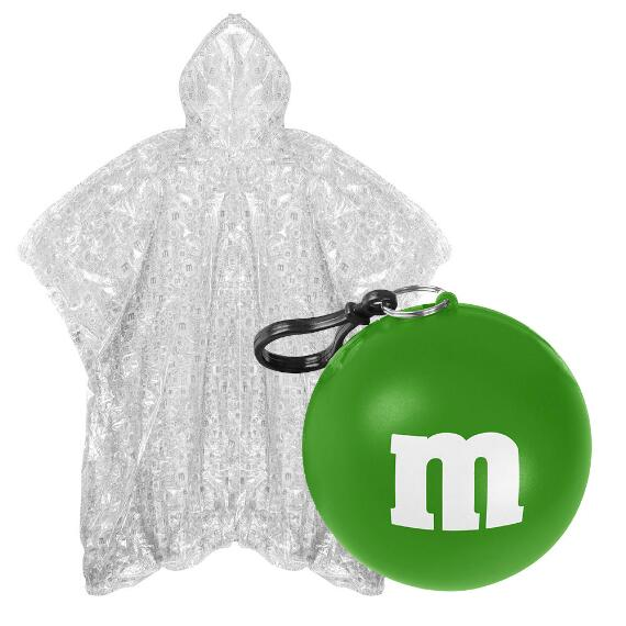 M&M'S® Logo Print Poncho In Green Ball