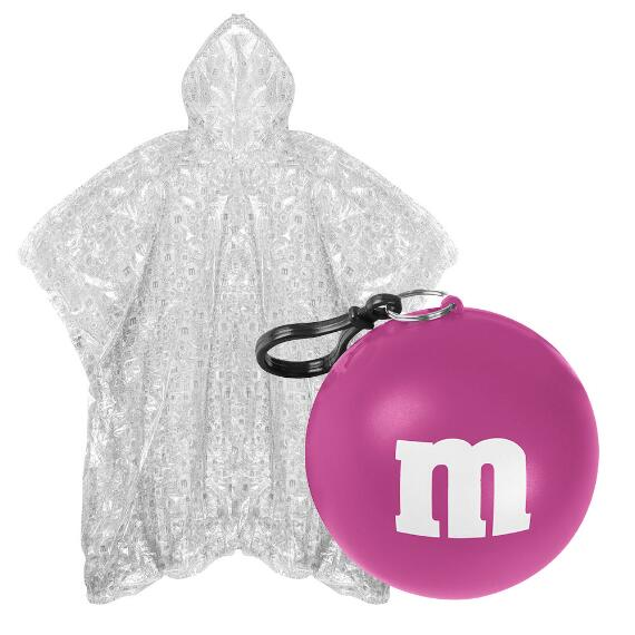 M&M'S® Logo Print Poncho In Pink Ball