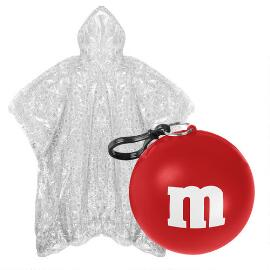M&M'S® Logo Print Poncho In Red Ball