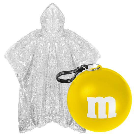 M&M'S® Logo Print Poncho In Yellow Ball